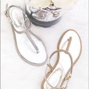 Shoes - Silver rhinestone sandals